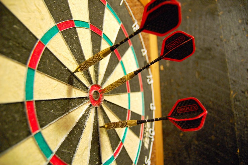 dartboard scores how much they are worth